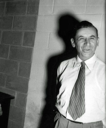 Meyer Lansky surrenders Sept. 10, 1952, in Ballston Spa, N.Y., after being named…