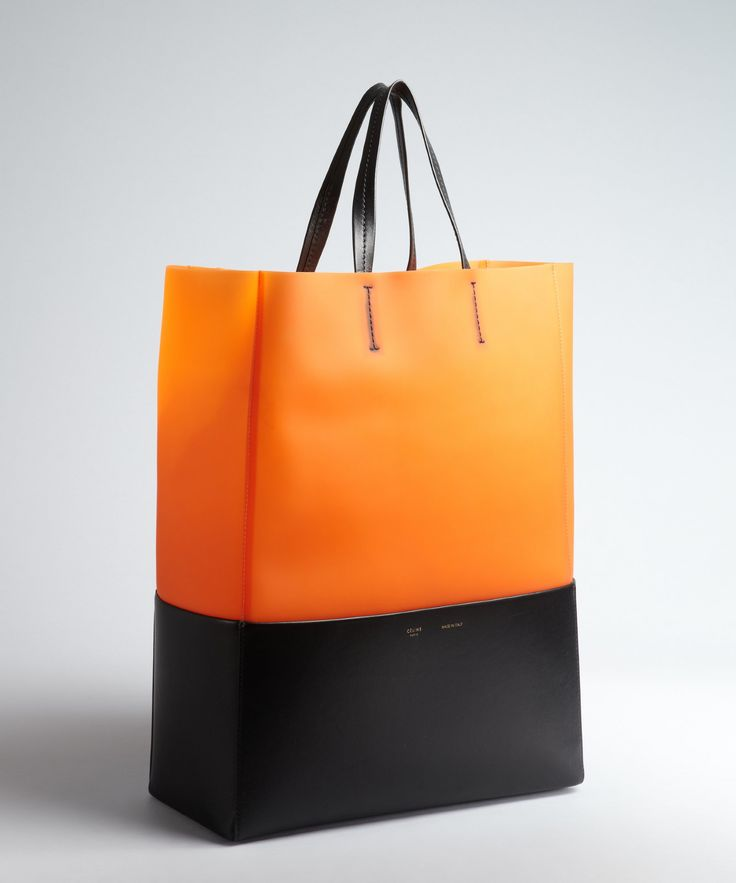 celine orange leather backpack