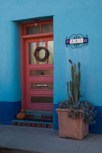 I may have to go for a turquoise house with a coral door and white accents...and be the most obnoxious person in the neighborhood