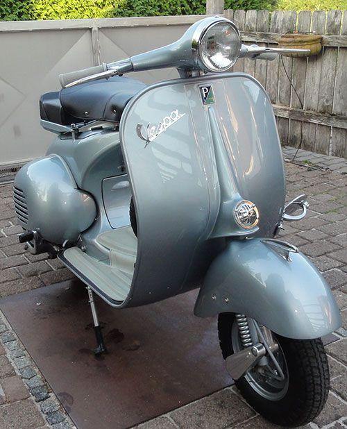 Vespa 150 VB1T 1958 Originallack Grigio Azzurro Metallizzato 15028                                                                                                                                                                                 More