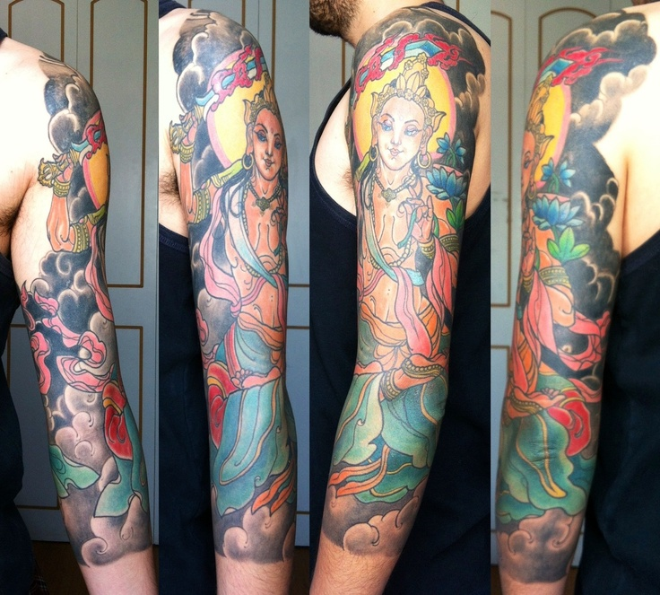 My tattoo, Manjushri Bodhisattva of Wisdom. By Jacob Abarca at ...