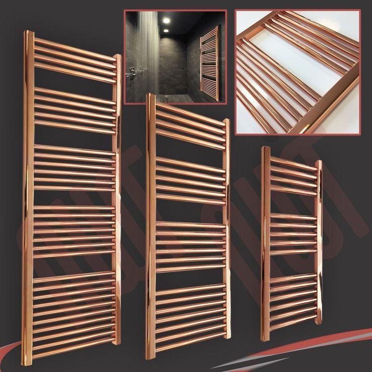 "NEW! Stunning Designer ""Copper"" Heated Towel Ladder Rails Radiators (11 Sizes)"