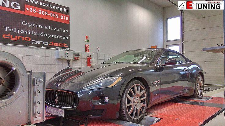 Maserati Gran Turismo 4.7 V8 http://ecotuning.hu/maserati-gran-turismo-4-7-v8/  #aetchip #aet #aetchiptuning #chiptuningtat #dyno #dynoproject #performance #autochip #tuning #optimalizalas #maserati #gt #maseratigranturismo