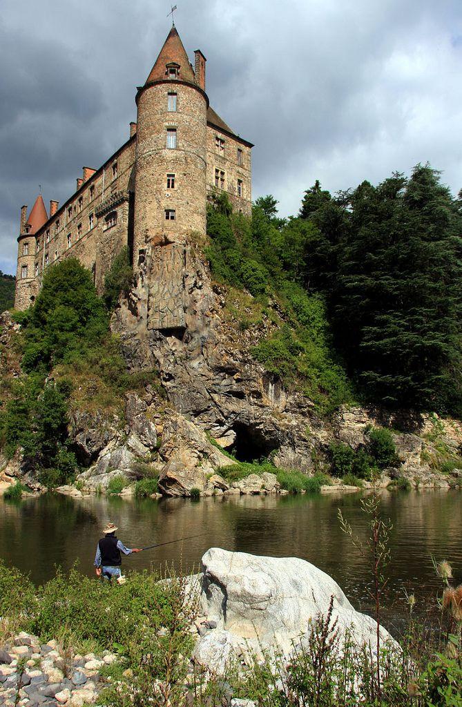 Fishing near the Château de Lavoûte-Polignac ~ Auvergne, France