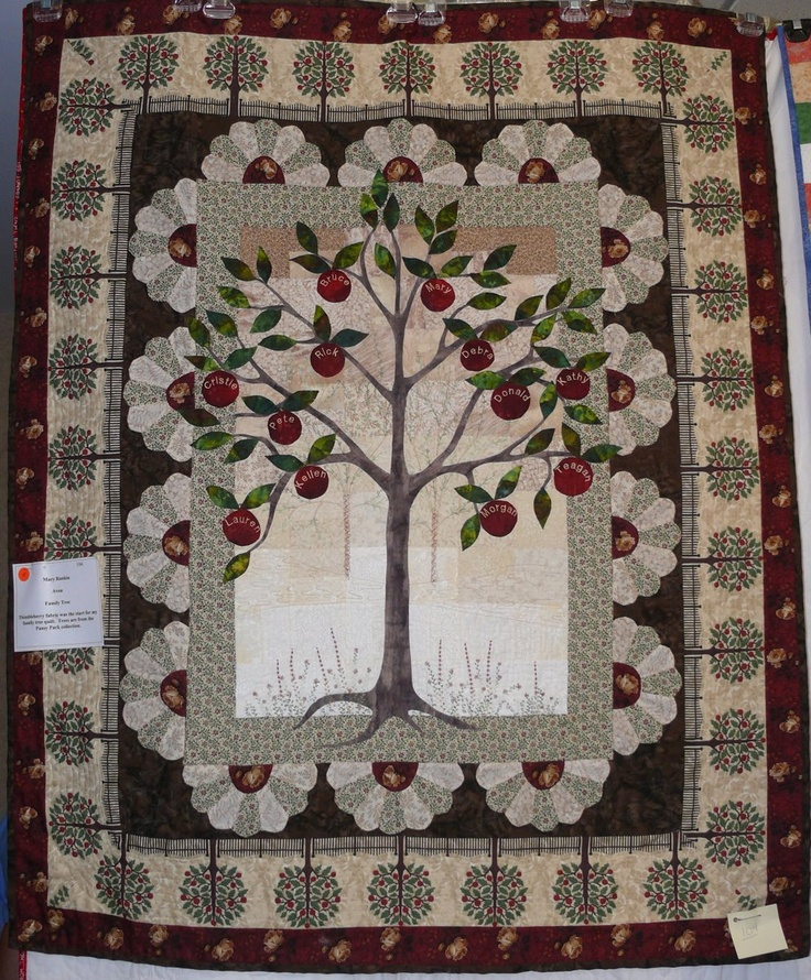 20 Best Quilts Family Tree Images On Pinterest Family