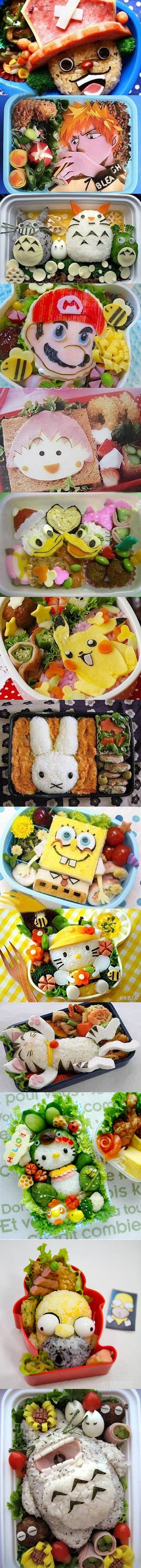 A collection of 14 awesome bento boxes that geeks would love.