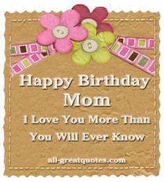 Happy Birthday Mom Poems From Daughter | Happy+birthday+mom+poems+from+daughter