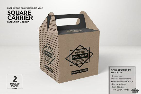 Download Square Carrier Packaging Mockup Free Packaging Mockup Packaging Mockup Brochure Design Template