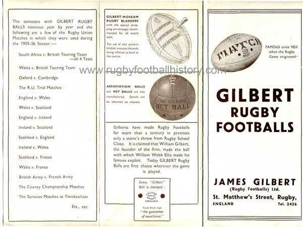 The items James Gilbert collected from his contacts in the game form the basis for the Gilbert museum established in 1987. Since those early days the Gilbert ball has been used by almost every rugby nation and at all levels of the game