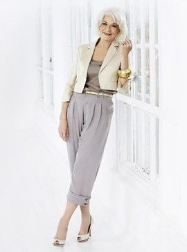 Cropped jacket and tapered trousers, Principles
