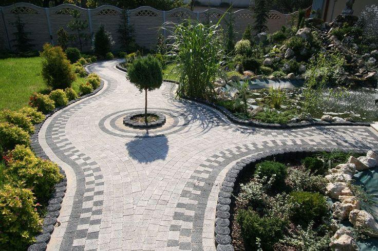 Ścieżki ogrodowe, kostka betonowa Afrodyta