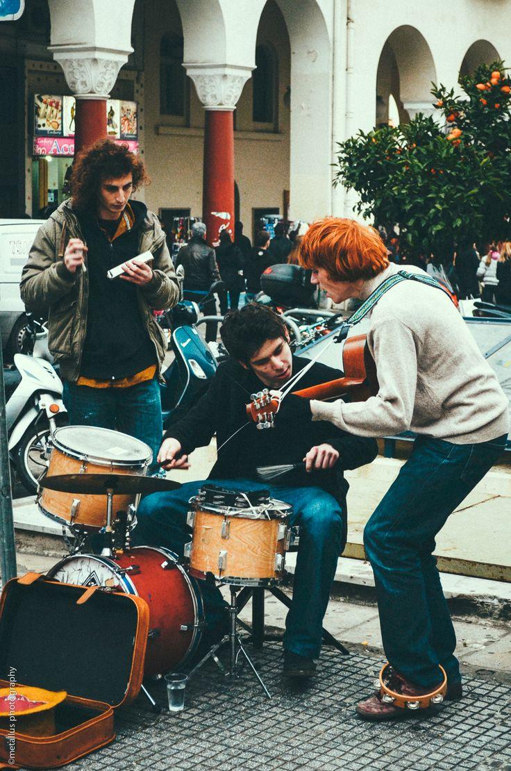 Street Music, Thessaloniki, Greece.  Culture.