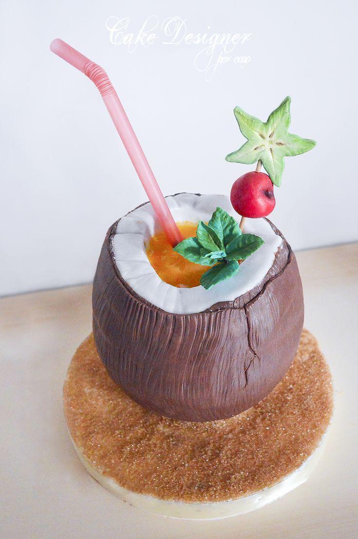 Cake Designer per caso [Coconut Cocktail Cake]