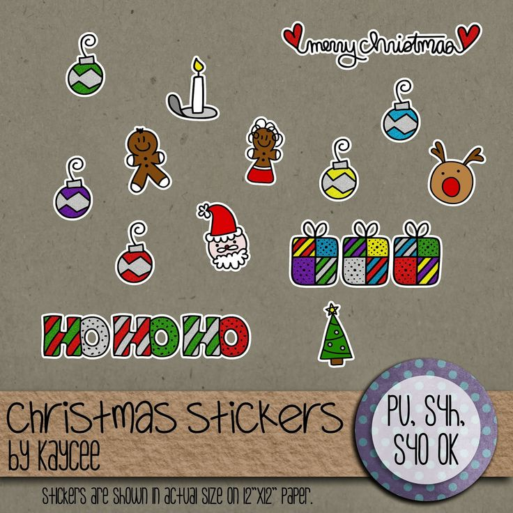 Christmas Stickers freebie