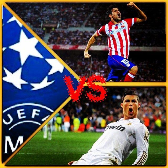 È arrivato il giorno: Real Madrid VS Atletico Madrid Chi pensate vincerà ? Today is the day: Real Madrid VS Atletico Who do you think is going to win? #championsleague #realmadrid #atletico