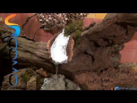 Cómo hacer una cascada real con salto de agua para el pesebre - Real cascading waterfall - YouTube