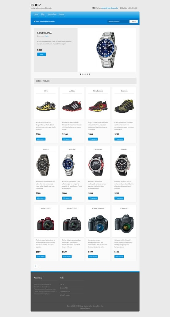 iShop - free ecommerce wordpress theme - #wordpress #theme #ecommerce #template #webdesign