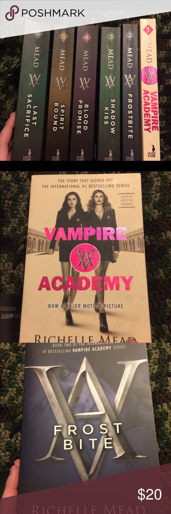 Vampire Academy box set( box no longer with it) Books in good condition, a little wear on spine due to opening the books but pages good condition looks like hardly read. Other