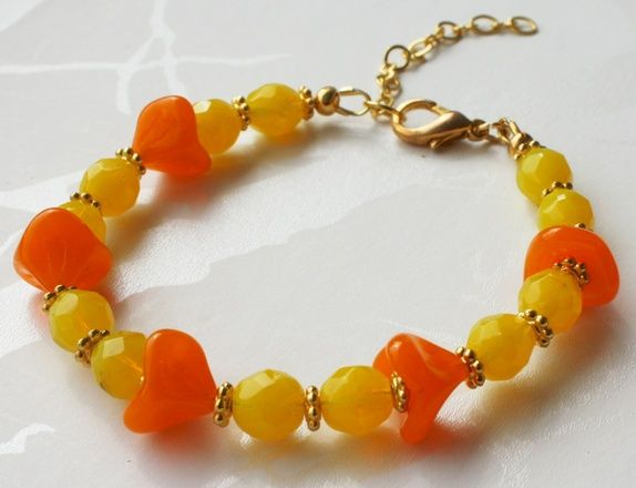 Yellow/orange bracelet