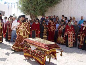 Πάτμος: Παναγία η Διασωζούσα και το έθιμο του επιταφίου της Παναγίας