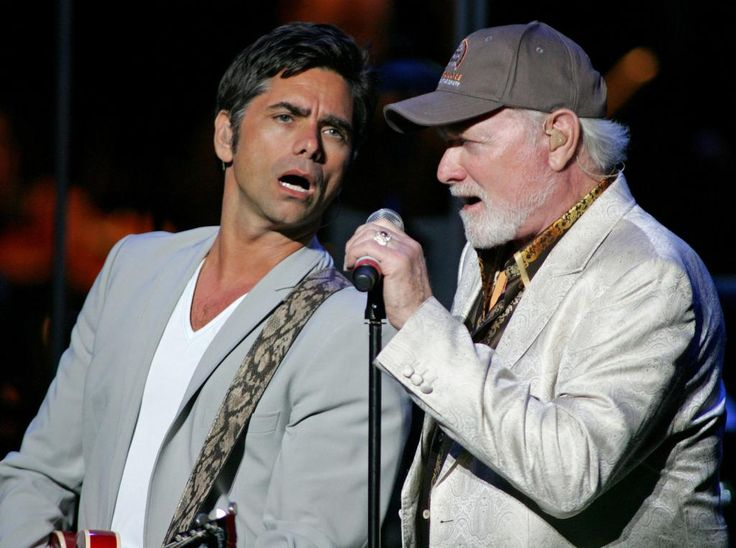 John Stamos L And Mike Love Play With The Beach Boys At A Benefit For Voices Against Brain Cancer Fillmore In Miami On April 14 201
