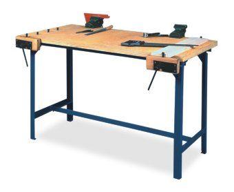 Stół warsztatowy stolarsko-ślusarski NYSA 2-os. /składany/ Sklep FPN Nysa - pomoce dydaktyczne
