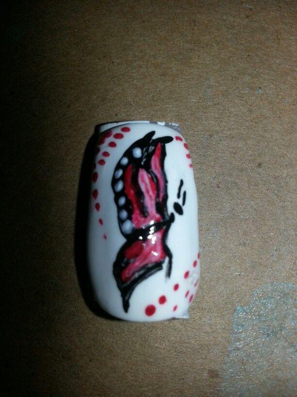 Butterfly nail art ♥