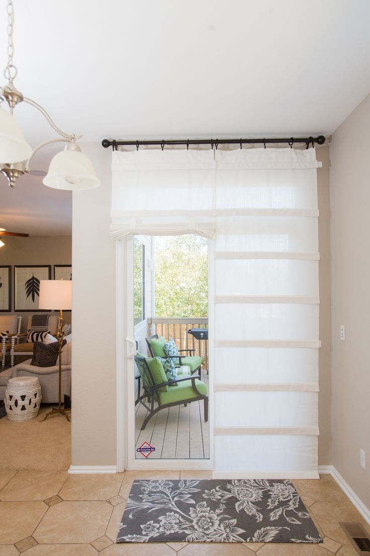 17 best ideas about sliding door treatment on pinterest
