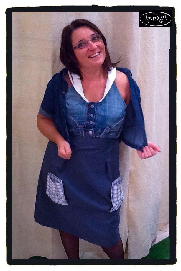 Ramona indossa un abito di #Riciclidesign #ipnostyle #ipnosiabbigliamento #Argenta #myshop  www.ipnosiabbigliamento.it
