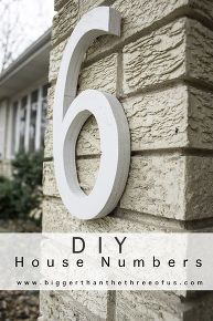 diy house numbers modern plywood, curb appeal, diy, outdoor living, woodworking projects
