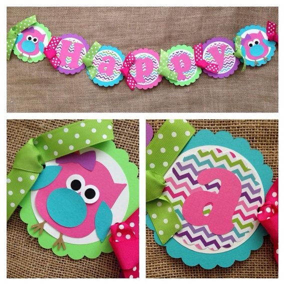 Owl Birthday Banner, Owl Party Banner, Look Who's Two Banner, Owl Party Decoration, Owl Birthday Decorations