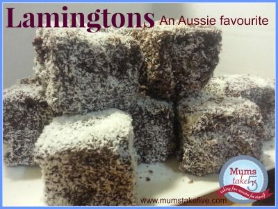Australia Day   Lamingtons yum!  Easy to do with the kids