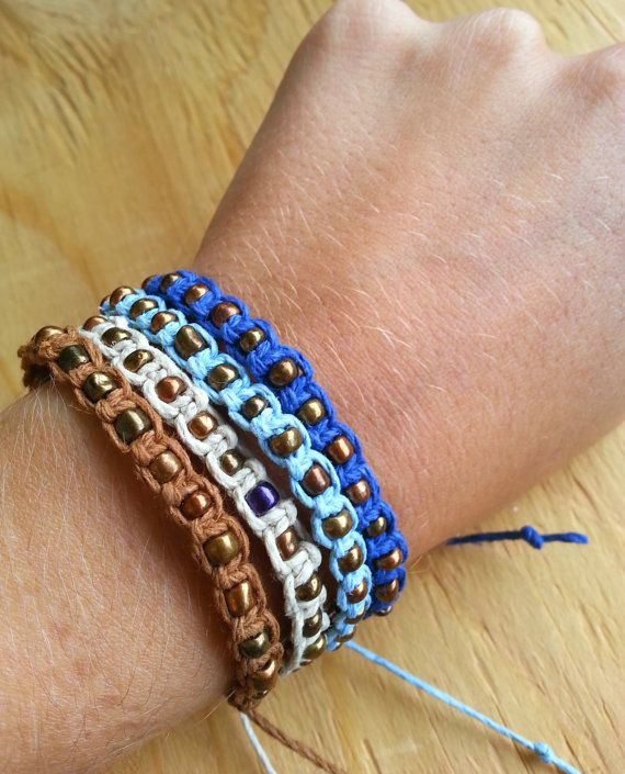 Hemp Bracelet Collection Hemp Jewelry Beaded by SunAndSoil