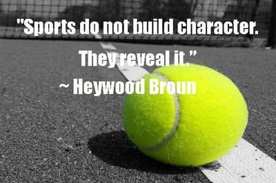 sports reveal character - essay Sports and character: five question five answers sports do not build character, they reveal it google character and sports or character and coaching and the.