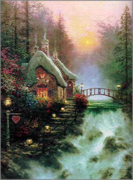 Thomas Kinkade Valentine. I love his work, buying one of his paintings