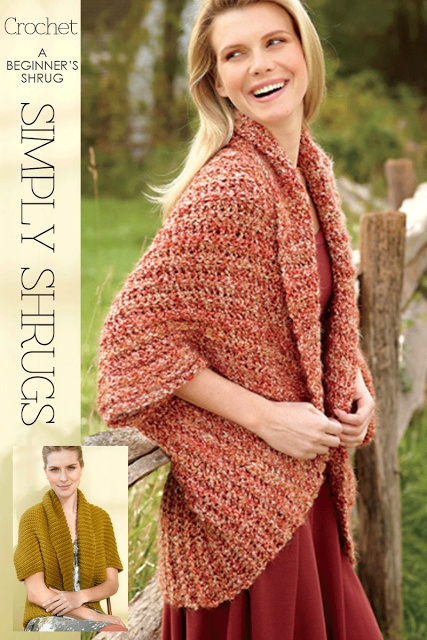 Shrug - Diary of a Creative FanaticShrugs Pattern, Crochet Shawl Free Pattern, Crochet Pattern Free Ponchos, Crochet Shrugs, Knits Shawl Free Pattern, Beginners Crochet, Crochet Pattern Free Shawl, Lion Brand, Simple Crochet