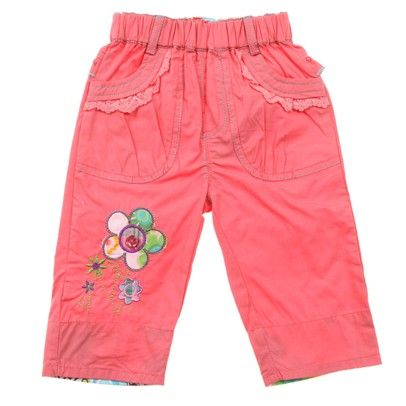 b.Salmon 3/4 Pants With Embroided Flower/Button On Leg-AJ53635Salmon-Salmon $15.00 on Ozsale.com.au