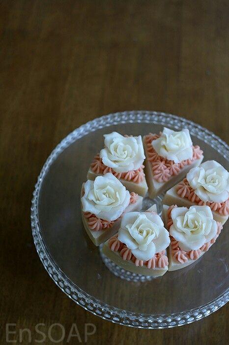 flower cake soap