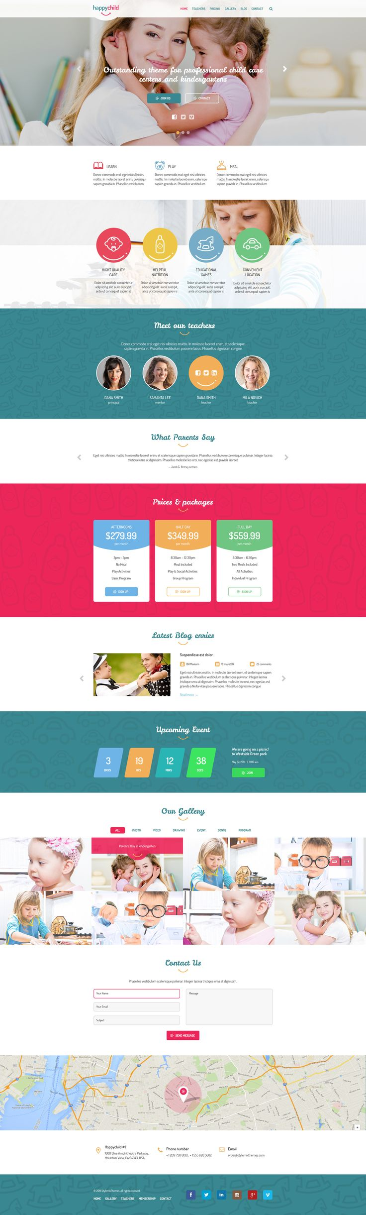 HappyChild is the outstanding PSD theme created for professional #child care and #kindergartens.    The layout is designed based on the #Bootstrap 3.1 grid standards. Please note photos & images are not included. #school #website #design