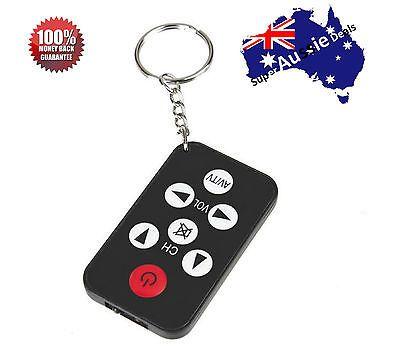 Universal Infrared IR Mini TV Set Remote Control Keychain Key Ring 7 Keys