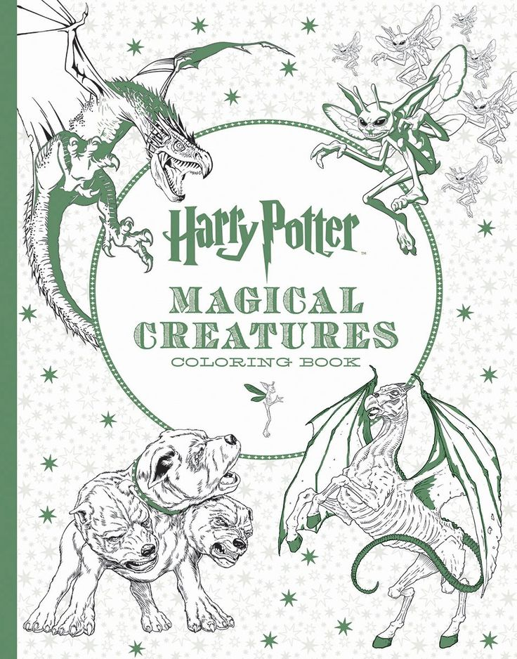 NEW Harry Potter Magical Creatures Postcard Coloring Book By Scholastic Paperbac In Books Magazines Children Young Adults Other