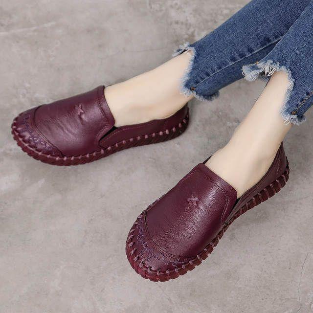 Tienda Online Gktinoo 2019 Zapatos De Mujer De Moda Mocasines De Cuero Genuino Zapatos Casua Zapatos De Trabajo Zapatos Comodos Mujer Zapato Deportivo De Mujer