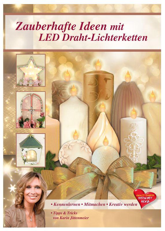 led lichter _deco basteln | Basteln mit Lichteffekt-Folie & LED-Lichtern - Ideen mit Herz