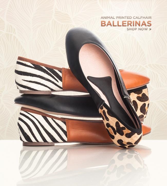 Animal printed ballerinas: Shoes, Printed Ballerinas, Living Dolls