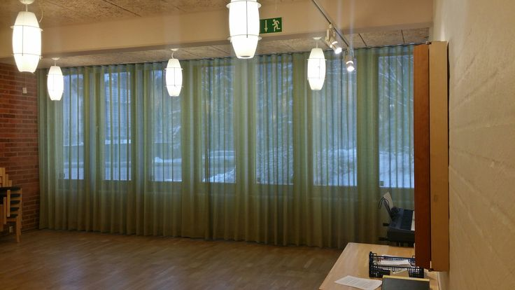 Wavedraperier levererade av Lingbo Textilinredning AB
