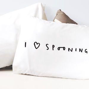 i love spooning pillow case
