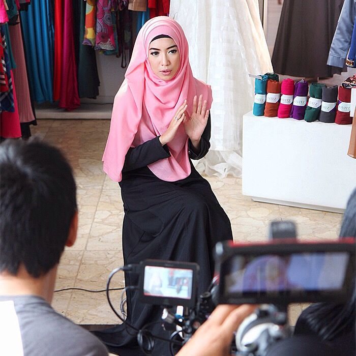 Fitri Aulia. Taping for The Indonesia Channel at KIVITZ Bintaro.