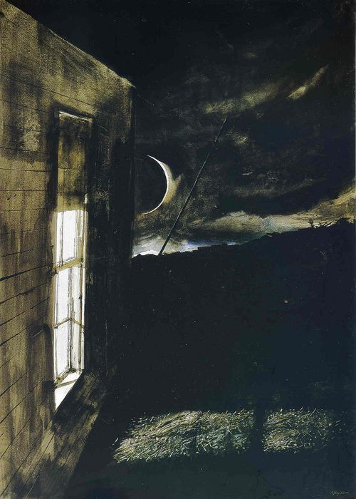 Andrew Wyeth's work always makes me nostalgic and inspired... his paintings are eerie in a dream-like way,like they were images of long-forgotten childhood memories