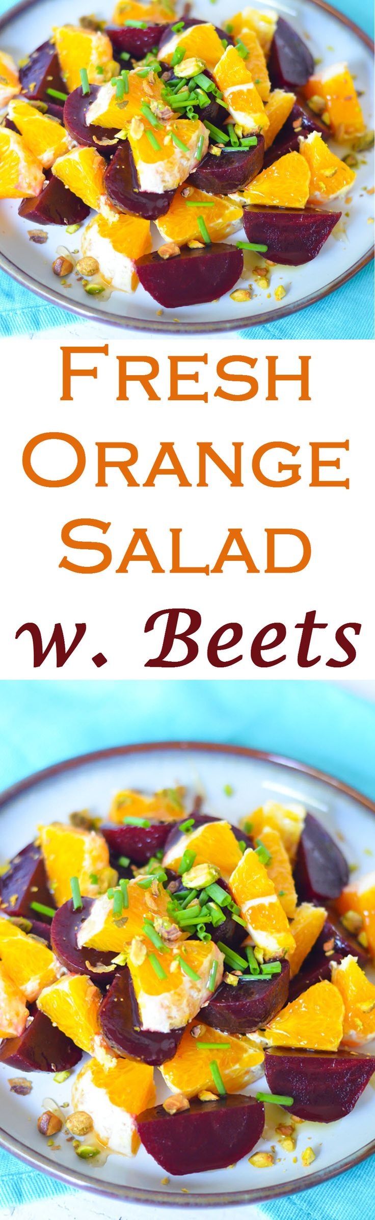 Fresh Orange Baby Salad w. Beets - a perfect way to enjoy citrus season and pack in the nutrients. Comes together in minutes for a healthy + quick salad/easy side dish