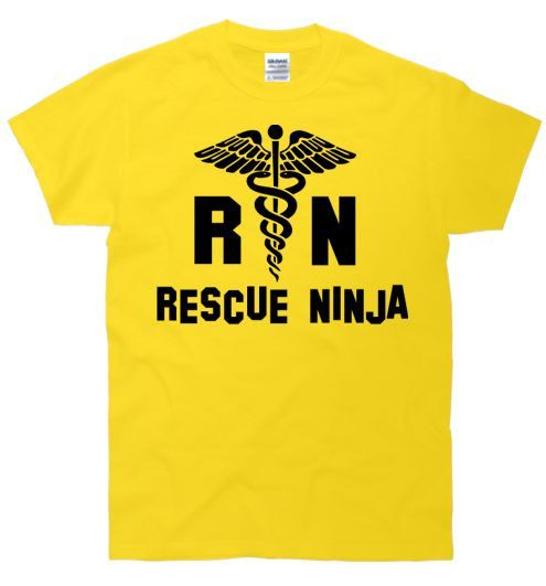 RN Rescue Ninja Nurse Funny TShirt by FastTees on Etsy, $15.00